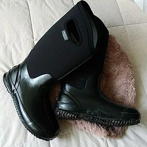 Bogs Black Rain Boots 7